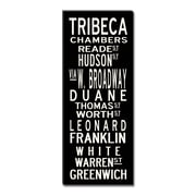 Uptown Artworks Tribeca by Uptown Artworks Framed Textual Art on Wrapped Canvas; 45'' H x 18'' W