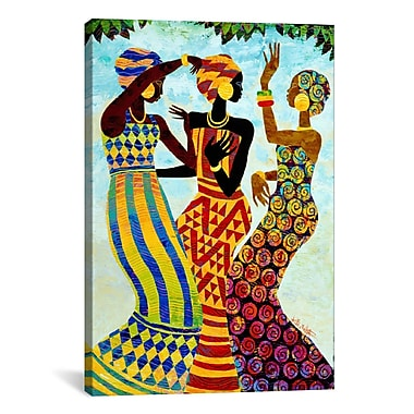 iCanvas Celebration by Keith Mallett Painting Print on Canvas; 60'' H x 40'' W x 1.5'' D