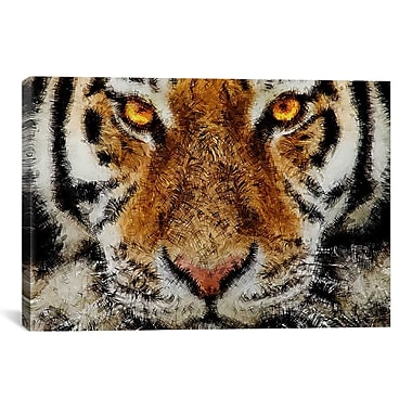 iCanvas Animal - Tiger by Maximilian San Graphic Art on Canvas; 8'' H x 12'' W x 0.75'' D