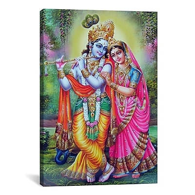 iCanvas Hindu Krishna and Radha Hindu Gods Painting Print on Canvas; 40'' H x 26'' W x 0.75'' D