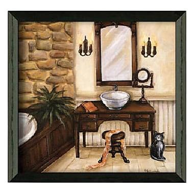 Timeless Frames Fireplace Escape I Framed Painting Print