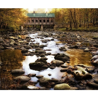 Art Effects Bridge over Rocky Waters by Danny Head Wrapped Photographic Print on Canvas