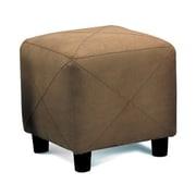 Wildon Home   Cube Ottoman; Brown