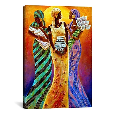 iCanvas Sisters of the Sun by Keith Mallett Painting Print on Canvas; 26'' H x 18'' W x 1.5'' D