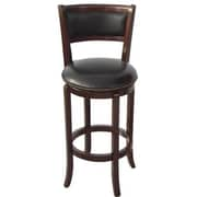 Wildon Home   Vinyl 24'' Swivel Bar Stool; Espresso