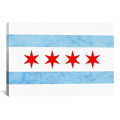 iCanvas Chicago Flag, Small Grunge Graphic Art on Canvas; 18'' H x 26'' W x 0.75'' D