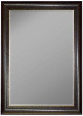 Second Look Mirrors Austrian Stepped Mahogany Gold Trim Wall Mirror; 59.25''H x 23.25''W x 1.25''D