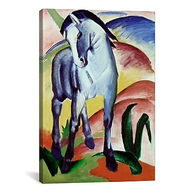 iCanvas 'Blue Horse' by Franz Marc Painting Print on Canvas; 18'' H x 12'' W x 0.75'' D