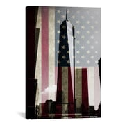 iCanvas Flags New York Freedom Tower Graphic Art on Canvas; 26'' H x 18'' W x 1.5'' D