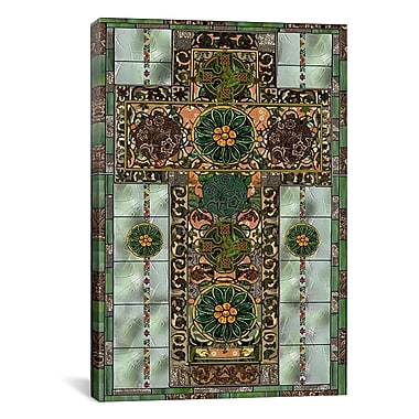 iCanvas Celtic Cross by Mindy Sommers Graphic Art on Canvas; 18'' H x 12'' W x 1.5'' D