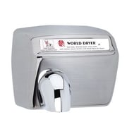 World Dryer Model A Durable 110-120 Volt Hand Dryer in Brushed Stainless Steel
