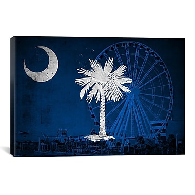 iCanvas Flags South Carolina Myrtle Beach Graphic Art on Canvas; 8'' H x 12'' W x 0.75'' D