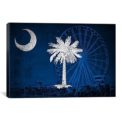 iCanvas Flags South Carolina Myrtle Beach Graphic Art on Canvas; 12'' H x 18'' W x 1.5'' D