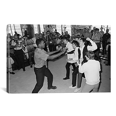 iCanvas Muhammad Ali The Beatles Photographic Print on Canvas; 26'' H x 40'' W x 1.5'' D