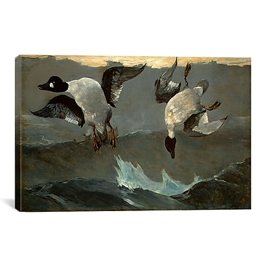 iCanvas Right and Left by Winslow Homer Painting Print on Canvas; 40'' H x 60'' W x 1.5'' D