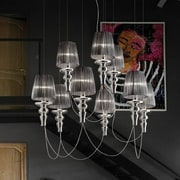 Evi Style Gadora Chic 9-Light Shaded Chandelier; Ivory