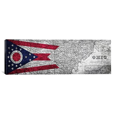 iCanvas Flags Ohio Panoramic Graphic Art on Canvas; 12'' H x 36'' W x 1.5'' D
