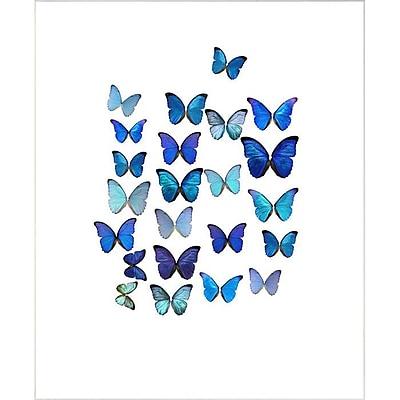 PTM Images Azul Breeze II Framed Graphic Art