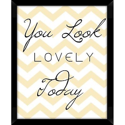 PTM Images You Look Lovely Today Framed Textual Art