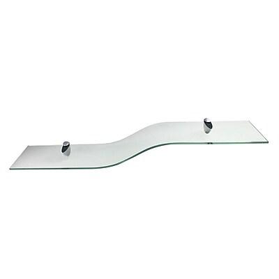 Wallscapes Curvo Glass Wall Shelf; Clear