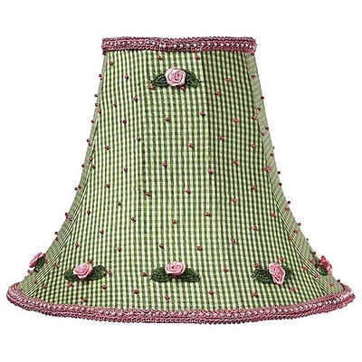 Jubilee Collection 10.25'' Silk Bell Lamp Shade; Green