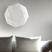 Morosini Diamond 3-Light Flush Mount; 8.5'' H x 47.2'' W x 47.2'' D