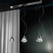 Morosini Karat 3-Light Kitchen Island Pendant; Transparent