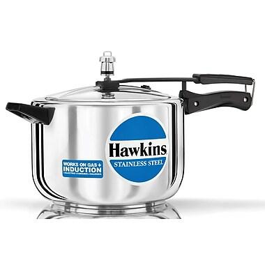 Hawkins Stainless Steel Pressure Cooker; 8.45 Quart