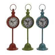 Woodland Imports Statuesque Metal Table Clock (Set of 3)