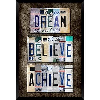 PTM Images Dream and Believe Framed Textual Art