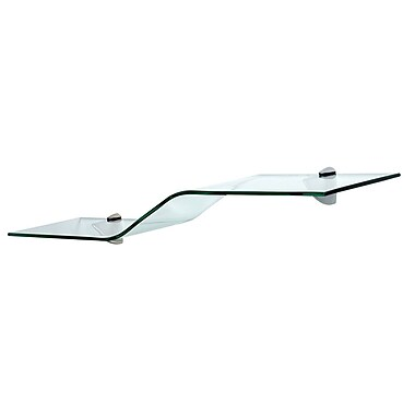 Wallscapes Allure Wave Shelf Kit; Clear