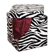 Simplify Single Folding Faux leather Ottoman, Zebra