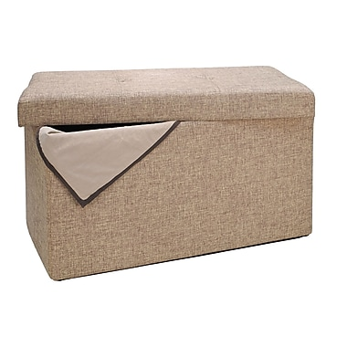 Simplify Double Folding Ottoman, Natural