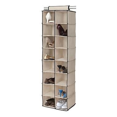 Simplify Hanging Organizer 16 Shelf, Cream