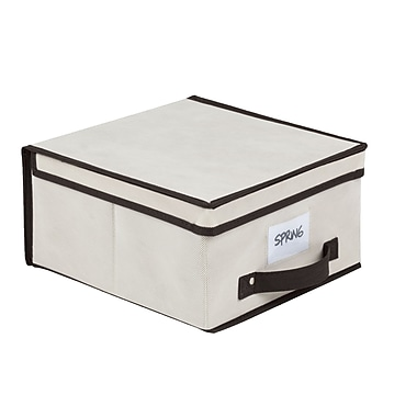 Simplify Medium Size Collapsible Non Woven Storage Box Cream
