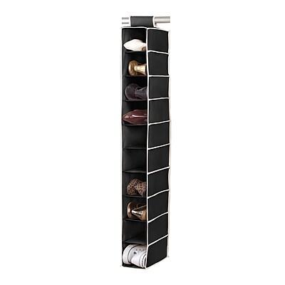 Simplify Hanging Shoe Purse Organizer Shelf, Black