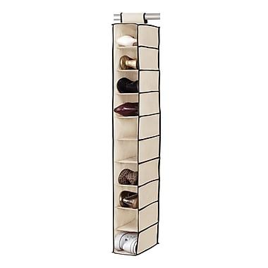 Simplify Hanging Shoe Purse Organizer Shelf, Cream