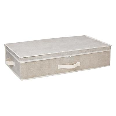 Simplify Non Woven Underbed Storage Box, Faux Jute