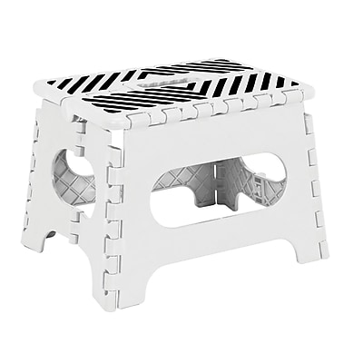 Simplify Folding Step Stool, White