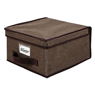 Simplify Medium Non Woven Storage Box, Brown