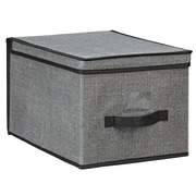 Simplify Large Polypropylene & Cardboard Storage Box, Grey