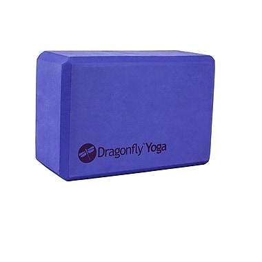 Dragonfly Yoga Foam Block, Purple
