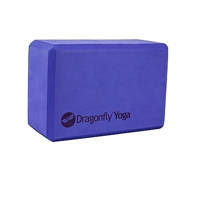 Dragonfly Yoga Foam Block, Purple