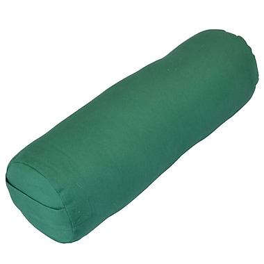 Yoga Direct Small Round Cotton Yoga Bolster, Green