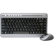 A4Tech® 7300N V-Track Wireless Keyboard and Mouse, Black