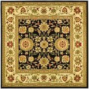 Safavieh Lyndhurst Collection Black and Ivory Square Area Rug Polypropylene 6' x 6'