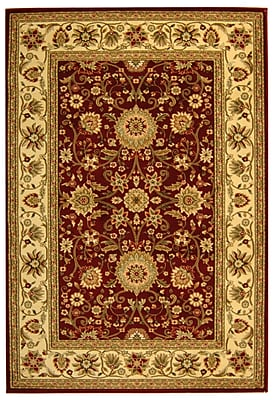Safavieh Polypropylene Lyndhurst Collection Red & Ivory Area Rug, 9' x 12'
