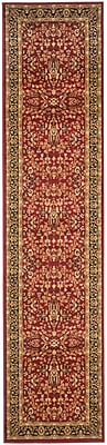 Safavieh Lyndhurst Collection Red/Black Polypropylene 2'3