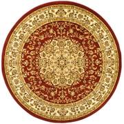 Safavieh Lyndhurst Black & Ivory Oriental Round Rug Polypropylene 8'