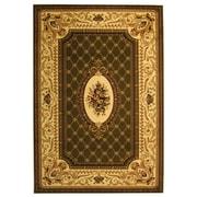 "Safavieh Polypropylene Lyndhurst Collection Sage & Ivory Area Rug 5'3"" x 7'6"""